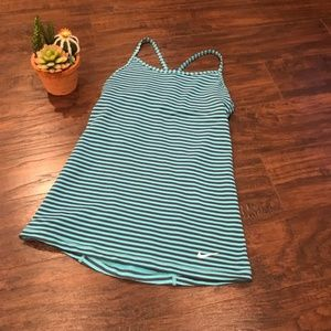 4/$25 Nike | blue and grey striped workout tank